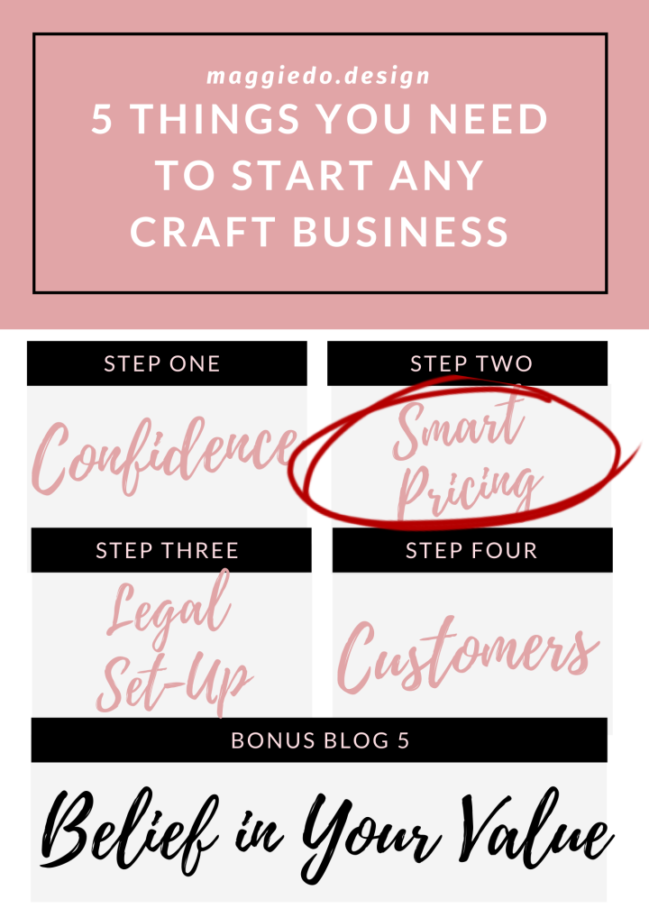 5 THINGS YOU NEED TO START ANY CRAFT-BASED BUSINESS – LESSON TWO. SMART PRICING.