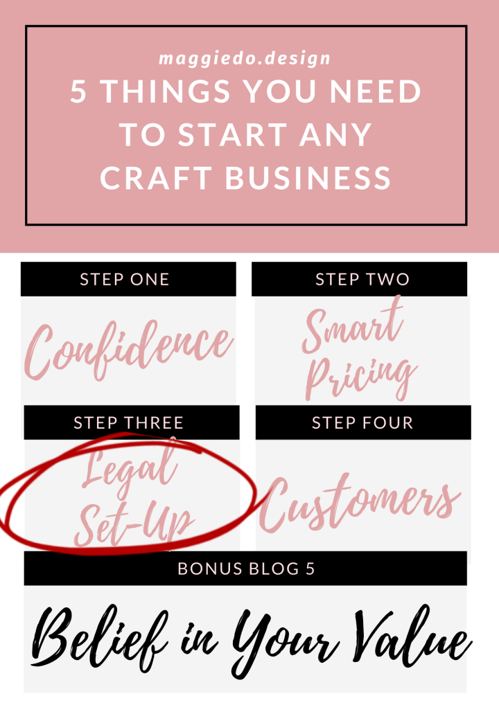 5 THINGS YOU NEED TO START ANY CRAFT-BASED BUSINESS – LESSON THREE. LEGAL SET UP.